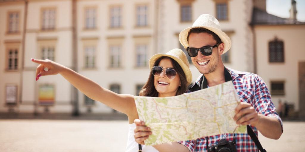 Happy tourist india